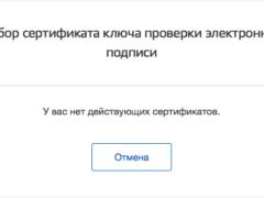 Ошибка «У вас нет действующих сертификатов» в Госуслугах — что делать