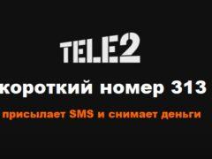 С номера 313 в Теле2 приходят СМС — что это, как отключить списания