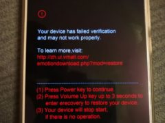 Your device has failed verification and may not work properly — что делать